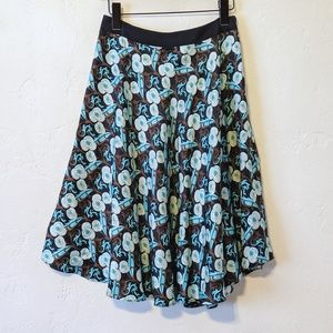 Milly Floral Silk Skirt